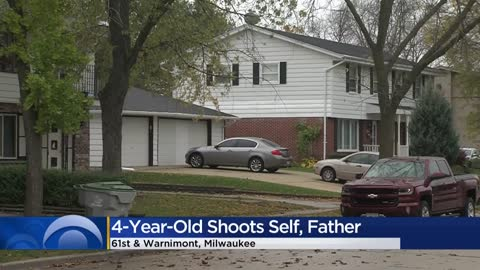 4-year-old picks up father's gun, shoots him and herself